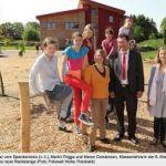 Waldorfschüler in Apensen freuen sich über eine neue Reckstange