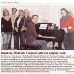 Musik bei Waldorf: Konzerte jetzt auf einem neuen Flügel