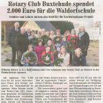 Rotary Club Buxtehude spendet 2.000€ für die Waldorfschule