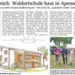 Erster Spatenstich: Waldorfschule baut in Apensen