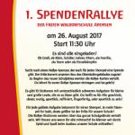 Spendenrallye und Flohmarkt am 26.08.2017