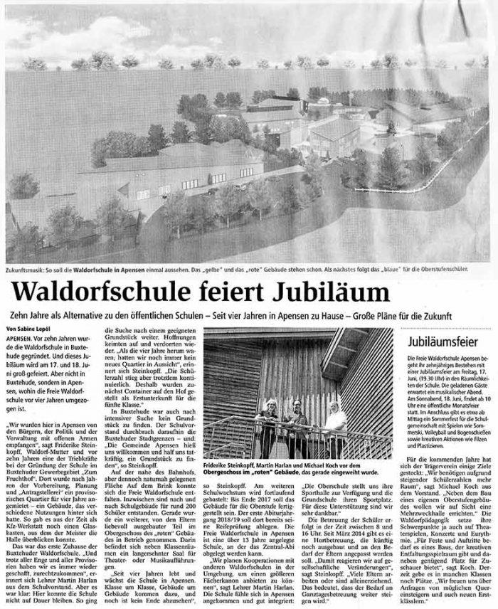 Waldorfschule feiert Jubiläum
